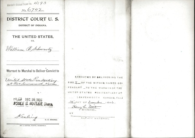 Schwartz, W. B. - Warrant to Marshal cover