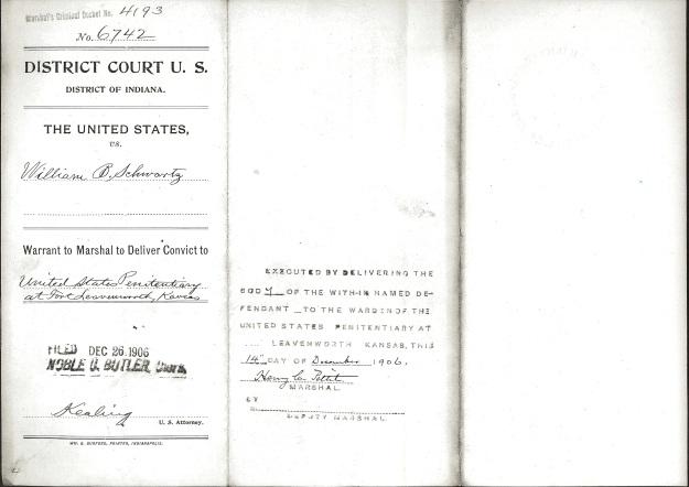 Schwartz, W. B. - Warrant to Marshal cover