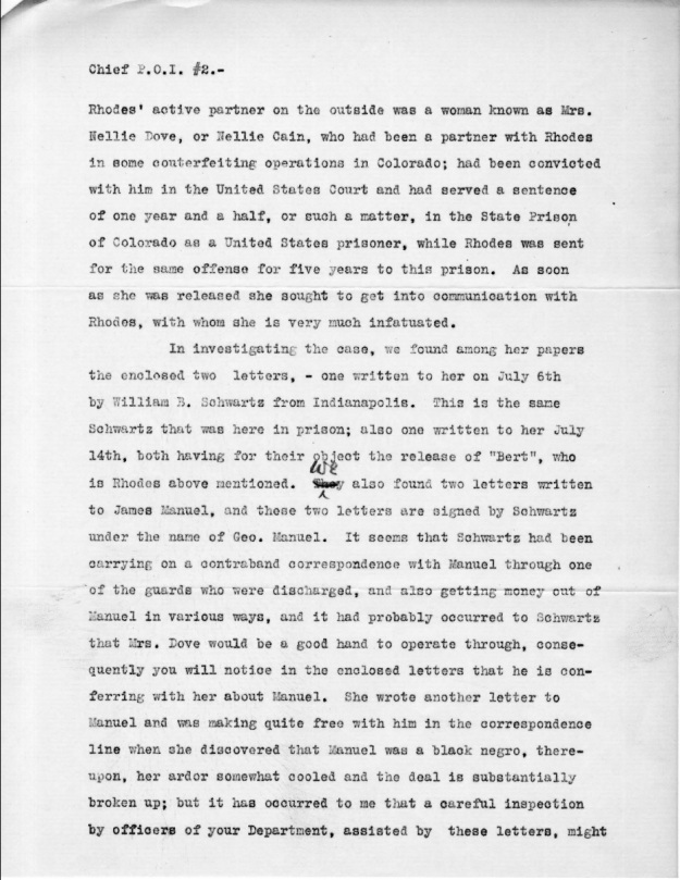 Schwartz, W. B. - 1910-08-15 Letter from Warden, p. 2