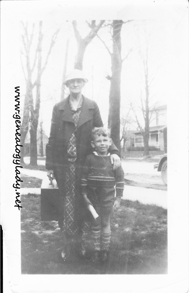 Wordless Wednesday - John and Grandmother Foster
