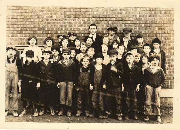 Clay County school c1920s - Teacher Roscoe S. Yegerlehner (Photograph from the private collection of Deborah Sweeney)