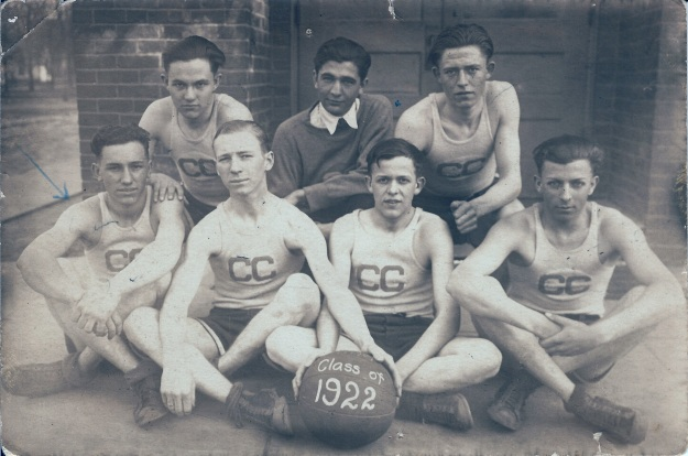 Clay City HS Class of 1922 basketball team (Photograph from the private collection of Deborah Sweeney)