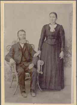 Christian and Elizabeth (Schwartz) Yegerlehner, c1880s (Photograph courtesy of Eric Graham)