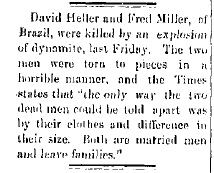 Heller, David & Fred Miller - Clay City Reporter, 1890-06-27, p. 2