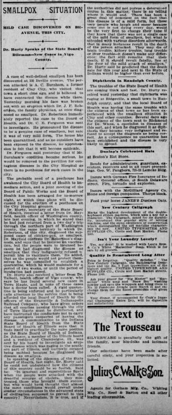 Indianapolis Journal - 1900-01-21 (Smallpox epidemic)