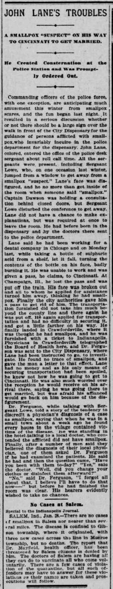 Indianapolis Journal - 1900-01-29 (Smallpox epidemic)