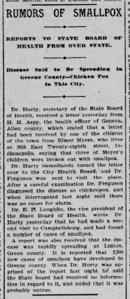 Indianapolis Journal - 1900-02-01 (Smallpox epidemic)