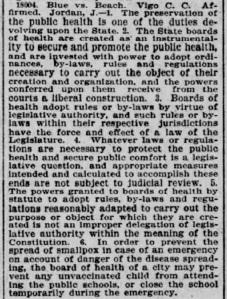 Indianapolis Journal - 1900-02-02 (Smallpox epidemic), p. 6 (Blue vs. Beach)