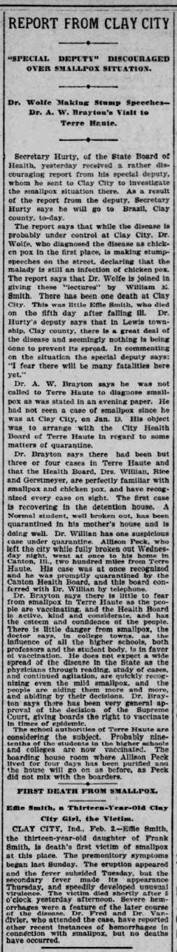 Indianapolis Journal - 1900-02-03 (Smallpox epidemic)