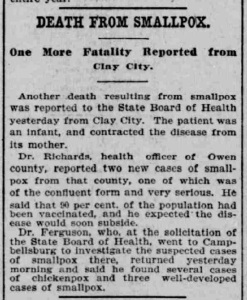 Indianapolis Journal - 1900-02-04 (Smallpox epidemic)