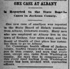 Indianapolis Journal - 1900-02-08 (Smallpox epidemic)