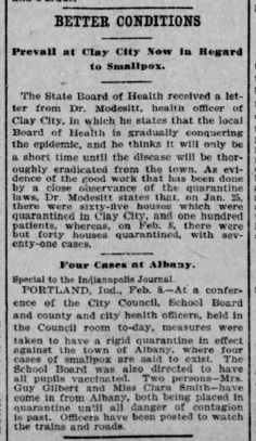 Indianapolis Journal - 1900-02-09 (Smallpox epidemic)