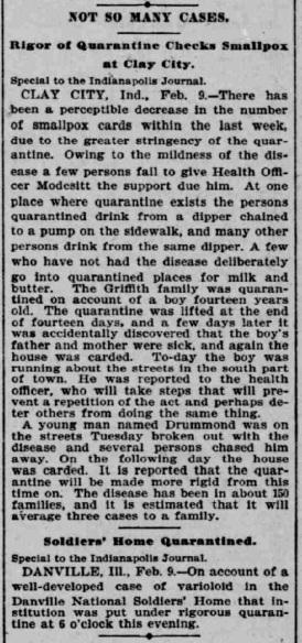 Indianapolis Journal - 1900-02-10, p. 5 (Smallpox epidemic)