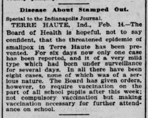 Indianapolis Journal - 1900-02-15 (Smallpox epidemic)