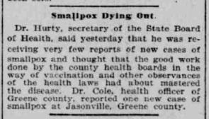 Indianapolis Journal - 1900-02-16 (Smallpox epidemic)