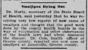 Indianapolis Journal - 1900-02-16 (Smallpox epidemic)