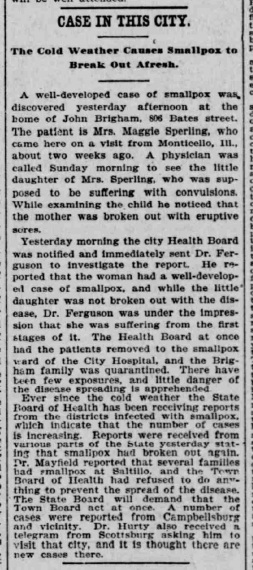 Indianapolis Journal - 1900-02-20 (Smallpox epidemic), p. 6