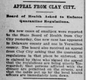 Indianapolis Journal - 1900-02-23 (Smallpox epidemic)