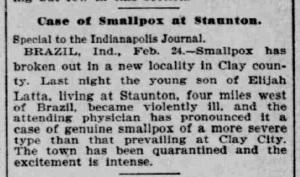 Indianapolis Journal - 1900-02-25 (Smallpox epidemic)