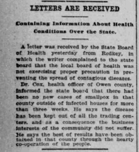 Indianapolis Journal - 1900-03-02 (Smallpox epidemic)