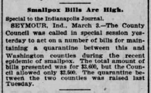 Indianapolis Journal - 1900-03-04 (Smallpox epidemic)