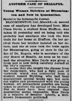 Indianapolis Journal - 1900-03-06 (Smallpox epidemic)