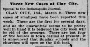 Indianapolis Journal - 1900-03-10 (Smallpox epidemic)
