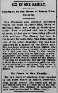 Indianapolis Journal - 1900-03-11 (Smallpox epidemic)