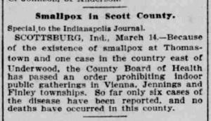 Indianapolis Journal - 1900-03-15 (Smallpox epidemic)