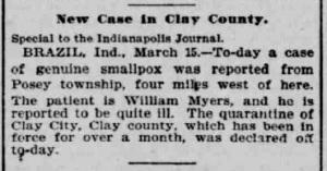 Indianapolis Journal - 1900-03-16 (Smallpox epidemic)