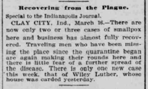 Indianapolis Journal - 1900-03-17 (Smallpox epidemic)