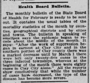 Indianapolis Journal - 1900-03-18 (Smallpox epidemic)