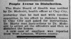 Indianapolis Journal - 1900-03-20 (Smallpox epidemic)