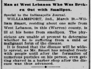 Indianapolis Journal - 1900-03-21 (Smallpox epidemic)