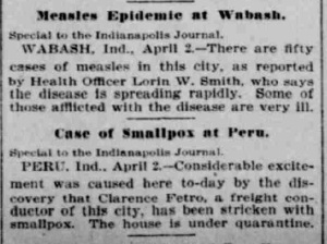 Indianapolis Journal - 1900-04-03 (Smallpox epidemic)