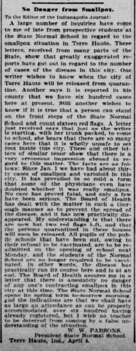 Indianapolis Journal - 1900-04-05 (Smallpox epidemic), p. 3