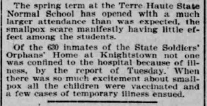 Indianapolis Journal - 1900-04-05 (Smallpox epidemic)