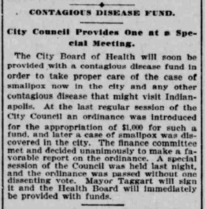 Indianapolis Journal - 1900-04-07 (Smallpox epidemic), p. 3