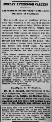 Indianapolis Journal - 1900-04-16 (Smallpox epidemic), p. 3