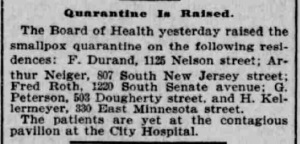 Indianapolis Journal - 1900-04-25 (Smallpox epidemic), p. 8