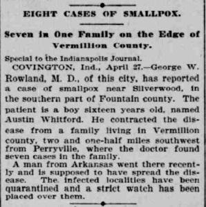 Indianapolis Journal - 1900-04-28 (Smallpox epidemic), p. 2