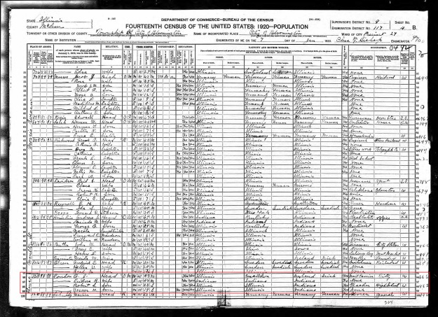 Condon, Osmond & Dora - 1900 Census