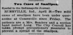 Indianapolis Journal - 1900-05-01 (Smallpox epidemic), p. 2