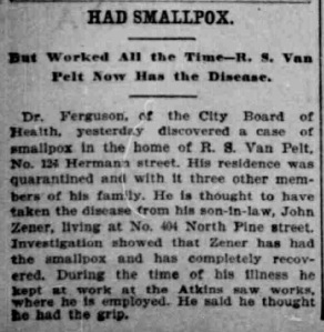 Indianapolis Journal - 1900-05-01 (Smallpox epidemic), p. 6