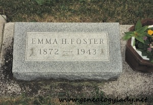 Foster, Emma (Lawhead) - tombstone