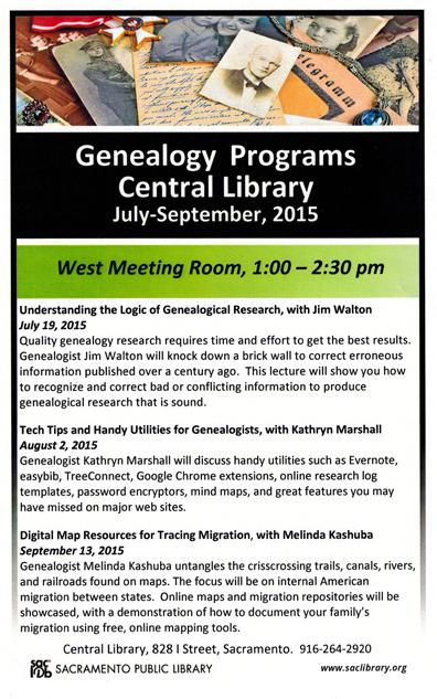 Books genealogy lady genealogy programs summer sac library fandeluxe Images
