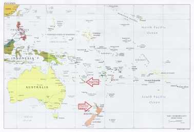 Oceania Map annotated