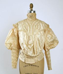 Shirtwaist, c1895, American silk and cotton