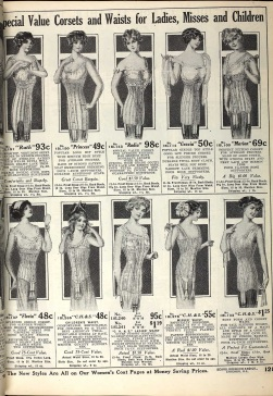 Fasion - Sears catalog, 1913 corsets