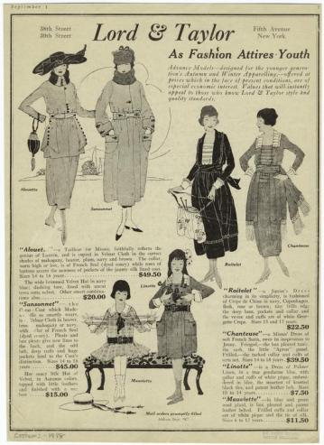 Lord & Taylor Winter 1918